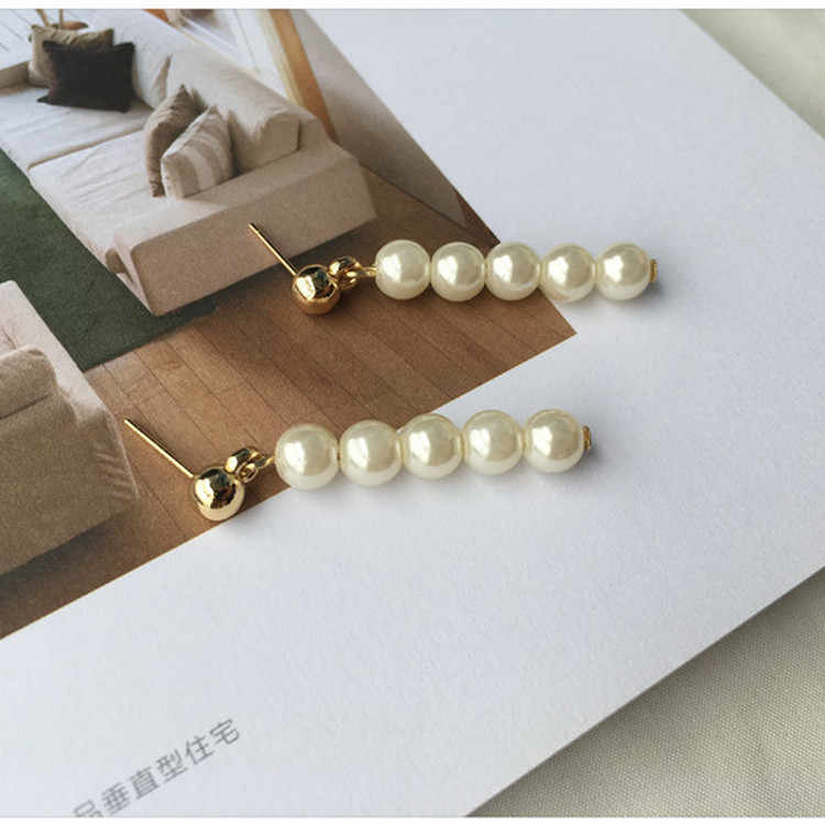 2018 Fashion Bohemian Ol Temperament Retro Imitation Pearl Long Section Tassel Female Earrings Jewelry Gift Brincos
