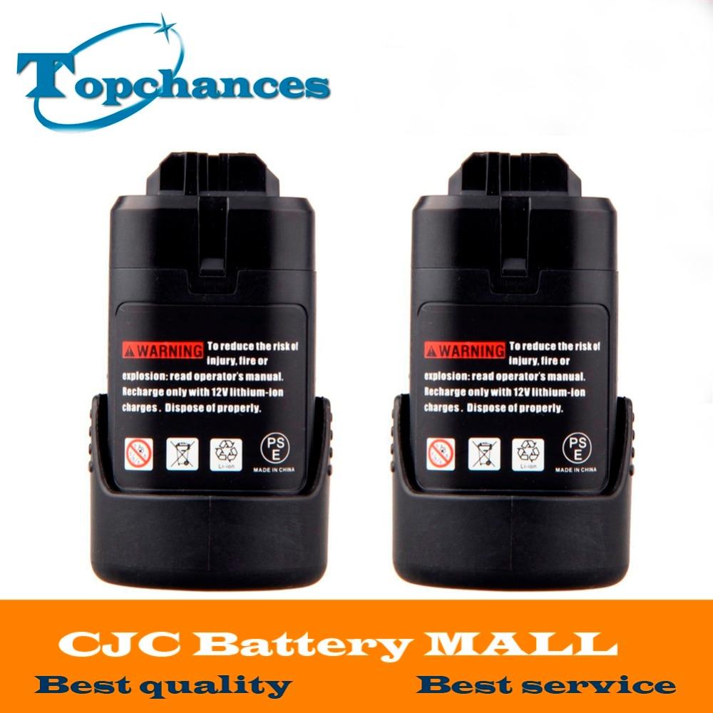 2PCS Li-ion Replacement Battery 10.8V 1500mAh For Bosch BAT 411 BAT 411A BAT411 GSR Lithium BAT412A PS40-2 PS20-2 PS10-2 стоимость