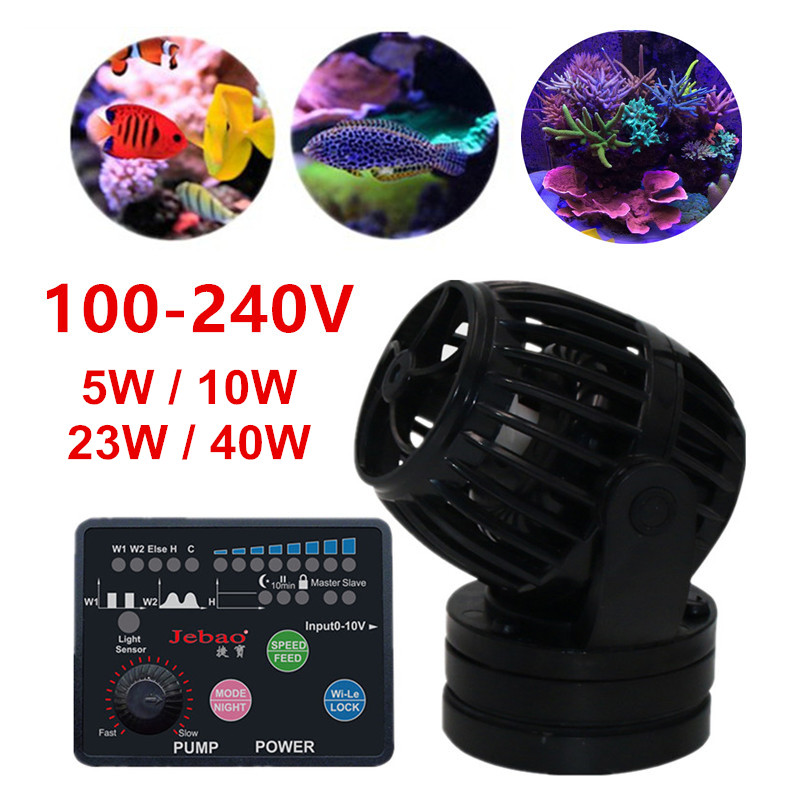100 240V Silent Aquarium Wave Maker Water Pump Powerful Fish Tank Wave Flow DC Pump Marine