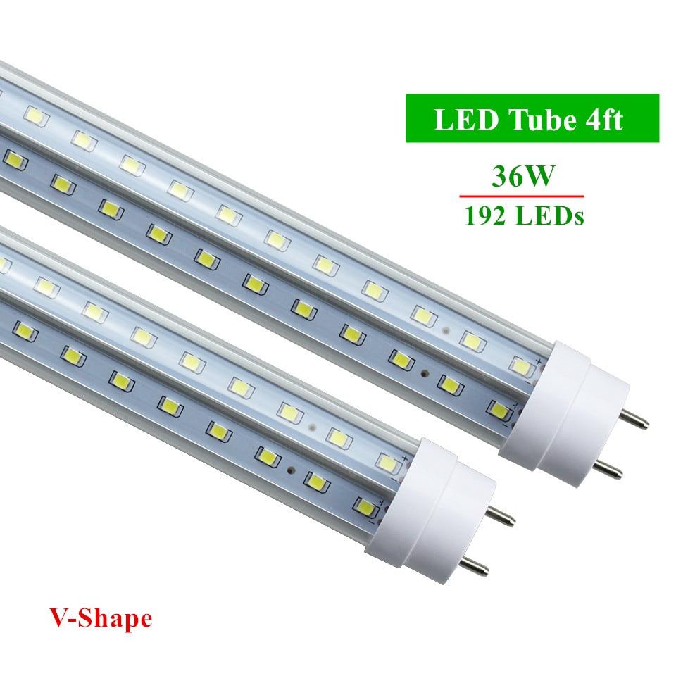 LED Bulbs Tubes G13 4ft 36W Led Tubes T8 192 LEDs SMD2835 Super Bright 3600lm V