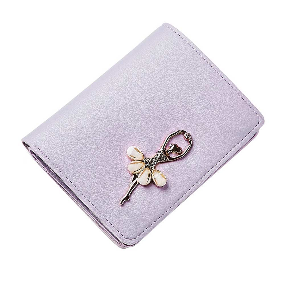 Simple Fashion Women Short Purse PU Leather Solid Color Clutch Bag Dancing Girl Wallet Lady Coin Purses WML99 5 colors women wallet clutches bags best pu leather button short purse lady bag girl faves bowknot hasp fashion brand designer