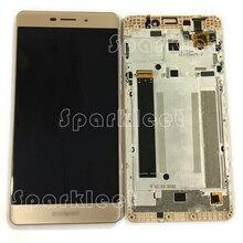 С золотой раме жк-экран для coolpad e502 жк-дисплей с сенсорным экраном digitizer замена тяга для coolpad жк + инструменты
