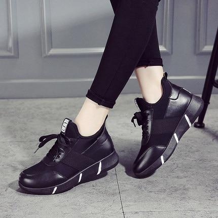 La Beige negro Nuevo Ulzzang Versión Zapatos Salvaje Harajuku Casuales Coreana De Otoño Mujer EFxwRPgq