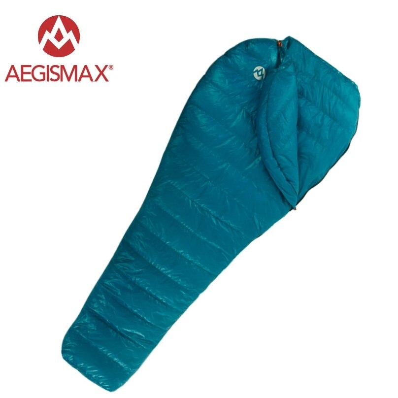Aegismax Nano спальный мешок 95% белый гусиный пух Сращивание Мумия спальные мешки Сверхлегкий портативный Открытый походный кемпинг 700 FP