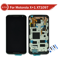 For Motorola MOTO X+1 X2 XT1092 XT1095 XT1096 XT1097 2nd LCD Display with Touch Screen Digitizer Assembly with frame Free ship
