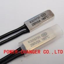 5PCS Thermostat 10C-240C KSD9700 160C 165C 170C 175C 180C 190C195C Bimetal Disc Temperature Switch Protector degree centigrade