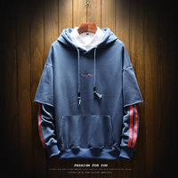Camouflage Patch Hoodies Mens 2018 Autmn Designs Camo Printed Sleeve Pullover Sweatshirts Male Hip Hop Loose