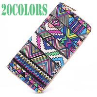 10 Colors New 2017 Bohemia Woven Boho Long Women Wallet Aztec Female Purse Ladies Tribal Card
