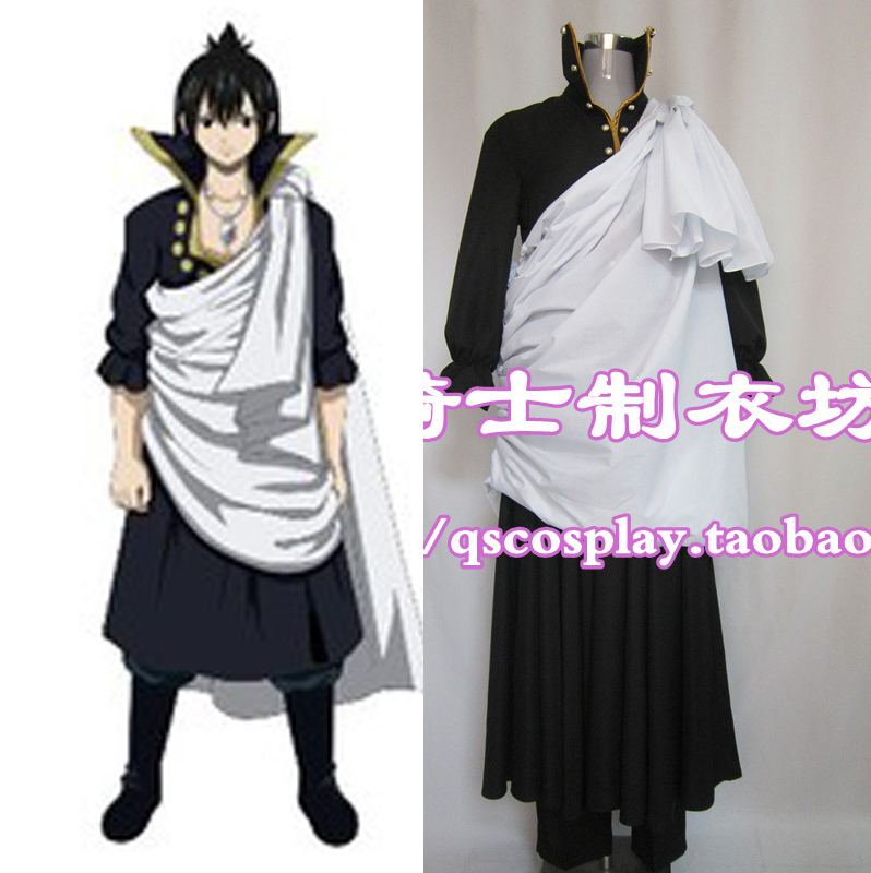 New Arrival Fairy Tail Zeref Cosplay Costume Full Set