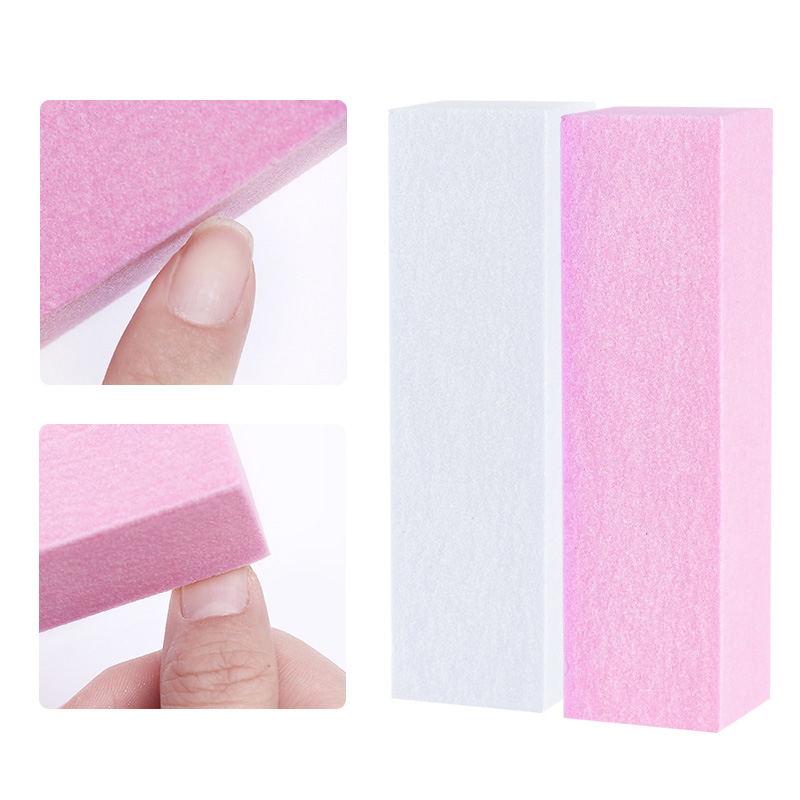 Pink Form Nail Buffers File For UV Gel White Nail File Buffer Block Polish Manicure Pedicure Sanding Nail Art Tool 1
