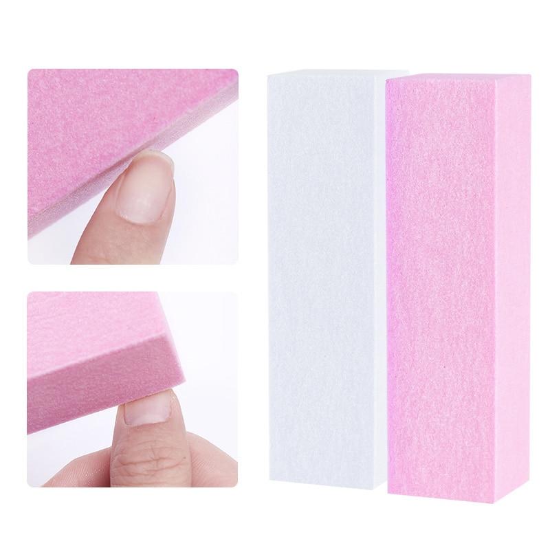 10 τεμάχια / σετ ροζ λευκή λείανση - Τέχνη νυχιών - Φωτογραφία 5