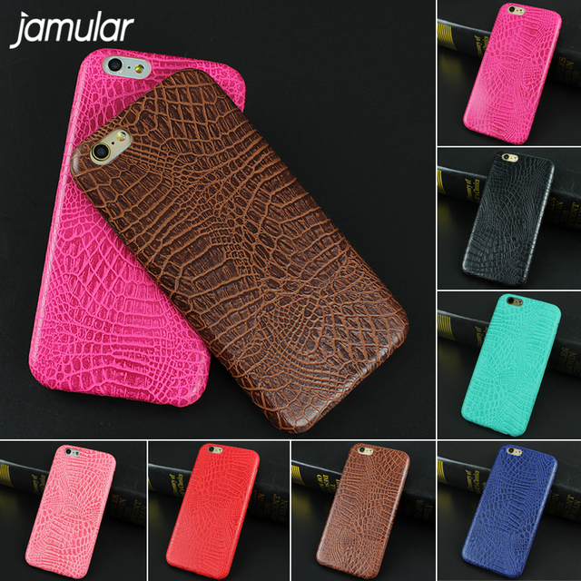 JAMULAR For iphone 7 6 6s Case Crocodile Snake Leather Case for iPhone X 8 7 Plus Back Cover for iphone 6s 6 Plus Cases Bags