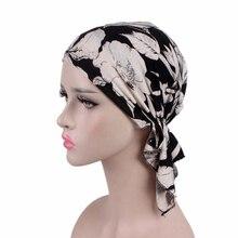 New Cotton Cap Women Ruffle Cancer Chemo Hat Beanie Scarf Turban Head Wrap