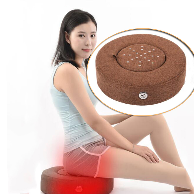 Moxibustion Therapy Cushion With Moxa Burner Box With Burning Moxa Stick For Yoga Body Relax Acupuncture
