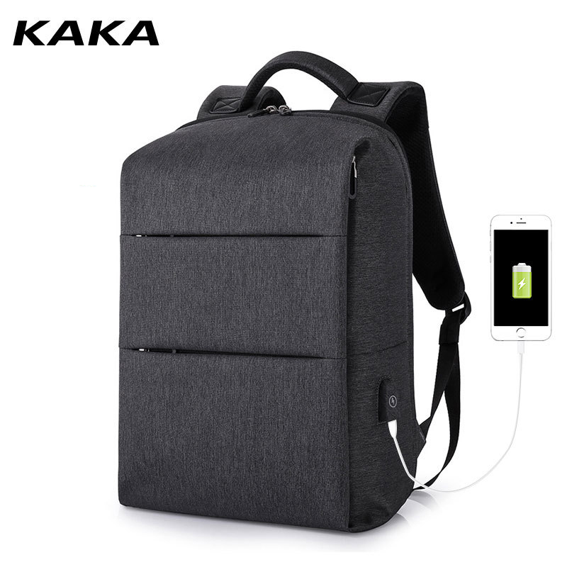 "2019 Kaka Brand New Men Business Laptop Backpacks For 15.6"" Computer Unisex Travel Women Travel Luggage Bags Usb Charging Black"