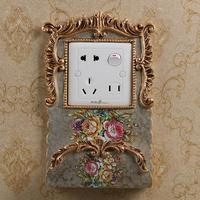 European American Luxury Switch Sticker Protective Cover Mobile Phone Charging Wall Sticker Household Living Room Bedroom Socket