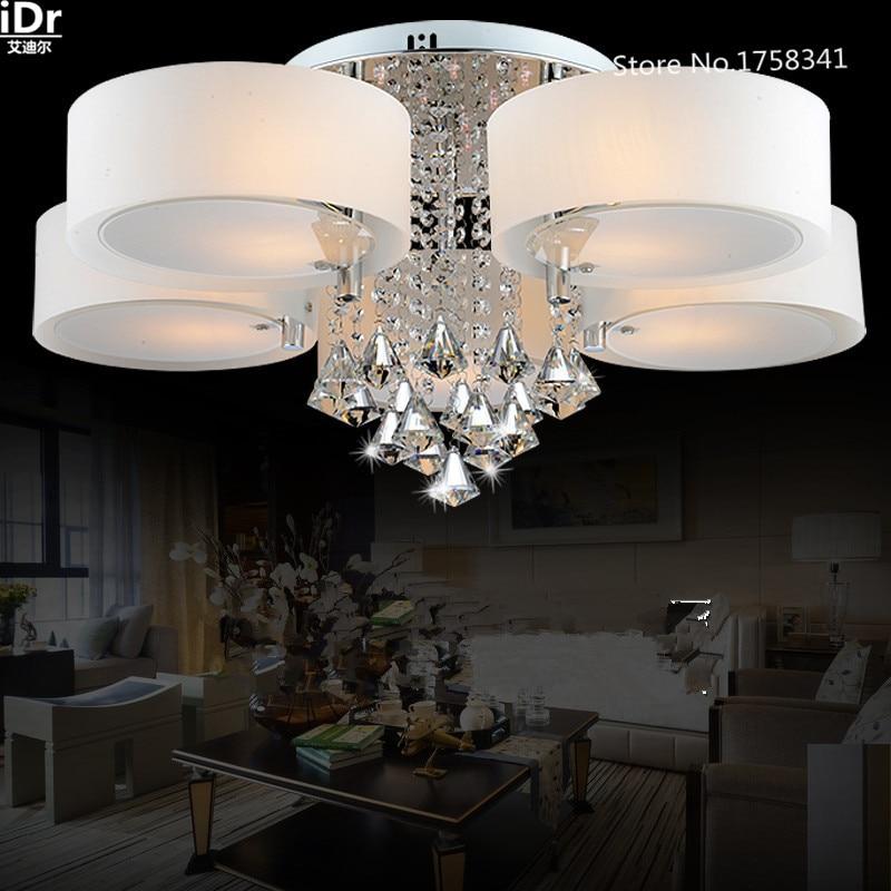 US $164.0 50% OFF|Fernbedienung farbwechsel K9 hochwertigen licht kristall  Acryl schatten schlafzimmer deckenleuchten wohnzimmer Moderne ...