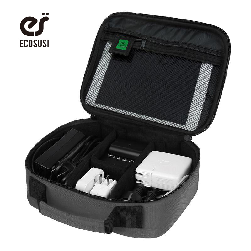 ECOSUSI Date Cable Digital Accessories Finishing Bag Data Charger Wire Storage Bag Mp3 Earphones Usb Flash