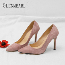 Women Shoes High Heels Spring Brand Woman Pumps Thin Heels Party Shoes Pointed Toe Slip On Office Ladie Dress Shoe Plus Size New venchale shallow slip on convenient 2018 new arrival high heels pointed toe woman plus size shoes genuine leather woman pumps