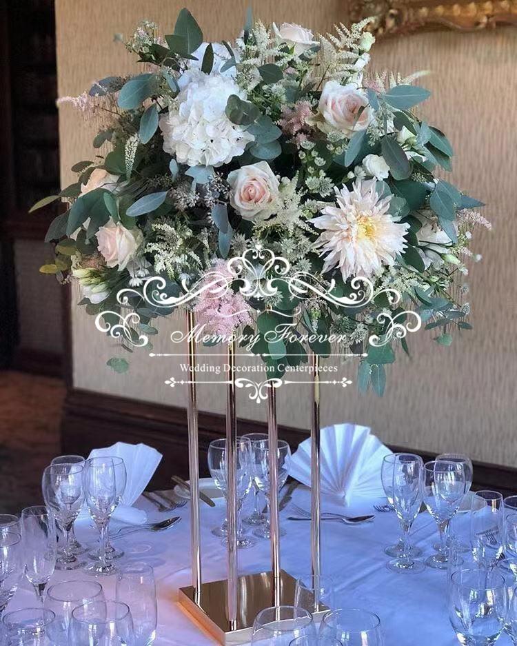 Floor Vase Metal Flower Vase Columns Aisle Pillar Table
