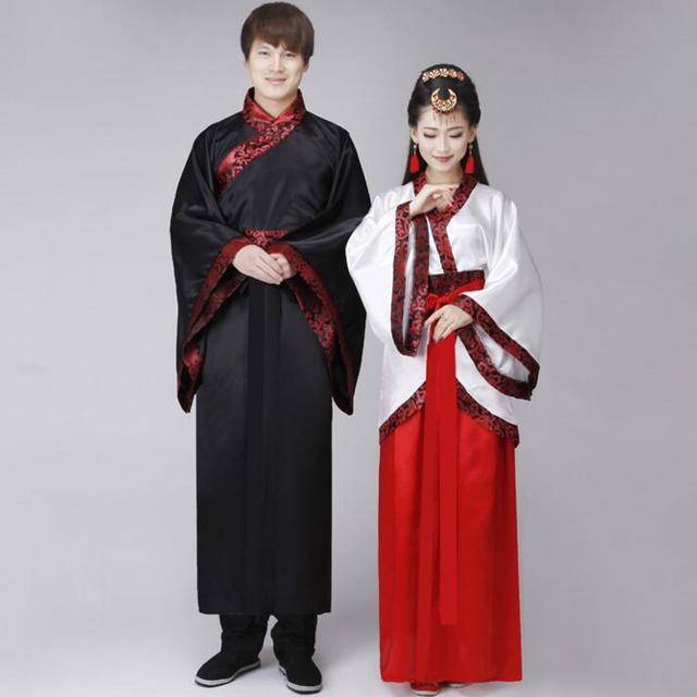 Chinese Traditional Hanfu Men Women Black White Male Hanfu Cosplay Costume Chinese -8285