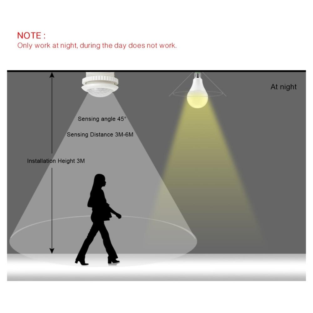 Lamp PIR Motion Sensor Light Switch IR Infrared Body Induction 220V ...