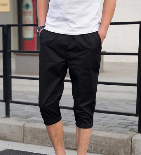 2018 del color del caramelo del verano siete puntos pantalones casuales hombres 7 puntos pantalones de gran tamaño