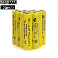 1.2v NI CD AAA Batteries Rechargeable nicd Battery 1.2V Ni Cd aa For Electric remote Control car Toy RC ues wholesale