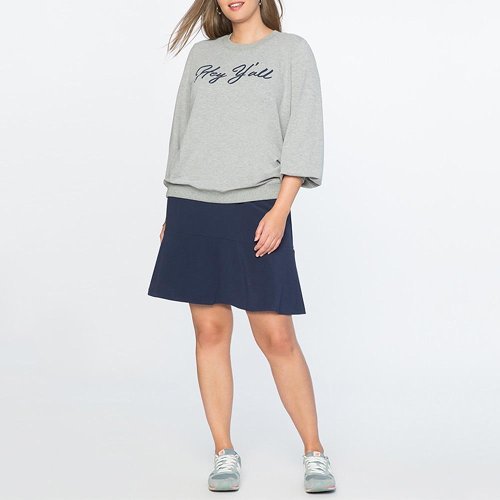 Cocoepps New 5Xl Plus Size Women Skirt Loose Casual Big Size High Waist Fashion School -3818