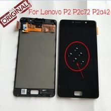 100% Original Amoled LCD Display Touchscreen Digitizer Montage Mit Rahmen Für Lenovo vibe P2 P2c72 P2a42 telefon panel Sensor
