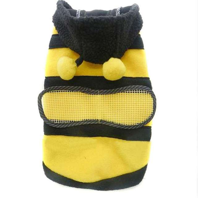 1 Pcs Unique Dogs Pets Clothing Clothes Cute Fleece Bumble Bee Lovely Wings Dog Cat Pet Harness Costume Apparel Coat lxMHM468*5
