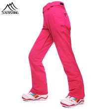 SAENSHING Winter Ski Pants Women Outdoor Sports winter Trouser High quality Thicak Warm Waterproof snowboard Pants 6 Colors