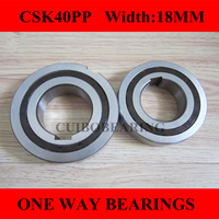 10pcs CSK40 CSK40PP BB40 one way clutch bearing 40x80x18   width:18mm