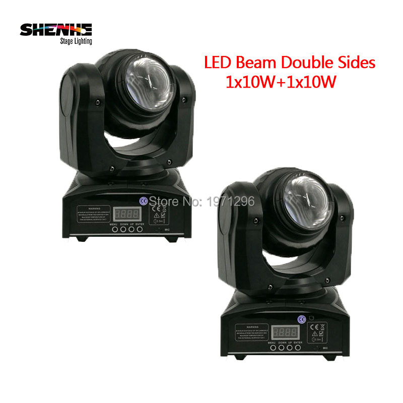 2PCS LED Beam Double Sides RGBW LED Stage Effect Light 15/21 Channel DMX 512 Rotating Moving Head for Indoor Disco Party