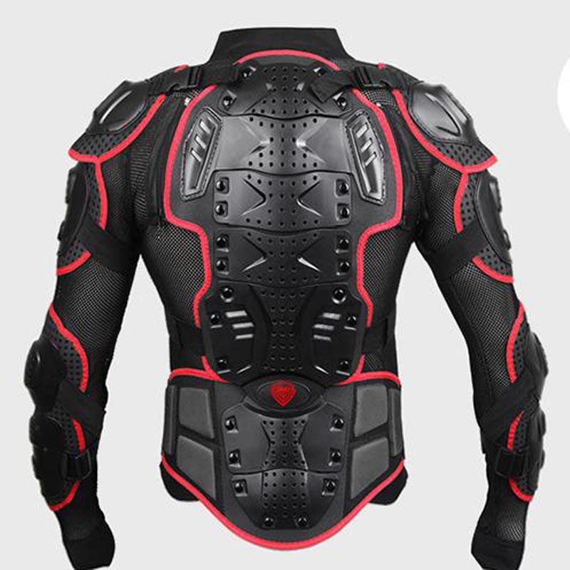 Vestes moto rcycle Protection complète du corps noir rouge Aarmo moto vestes hommes moto rcycle gear moto cross vêtements protecteur