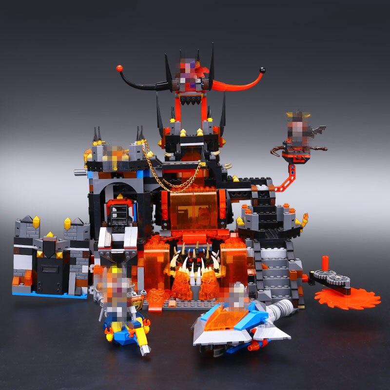 NEW LEPIN 14019 Nexoe Knights Jestros Vulkanfestung Model Building Kit Assemblage Blocks Toy Compatible 70323