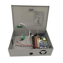 Fonte de alimentação de câmera de parede dc 12 v 20a 240 w ups caixa de alimentação ininterrupta caixa de monitoramento de energia de backup 18 canais ups