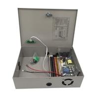 Wall mounted Camera Power Supply DC 12V 20A 240W UPS Uninterruptable Power supply Box Backup power monitoring box 18 channel ups