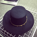 Otoño Invierno Hombres Mujeres Fedora Sombreros de Ala Ancha Jazz Sólido Panamá Casquillos Para Hombre Unisex Flat Top Hat