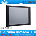 """17"""" All in One Touch Panel PC with LCD Display with Intel Celeron 1037u Processor 8G RAM 64G SSD 1TB HDD"""