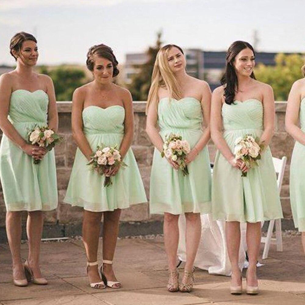 cheap   bridesmaid     dresses   2019 mint color   bridesmaid     dress   wedding party   dresses   short mini vestido de fiesta para boda