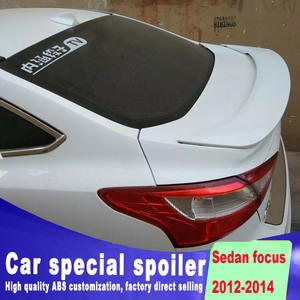 e5d12d675091 2012 2013 2014 for ford focus Panther sedan car rear trunk wing spoiler by  ABS material