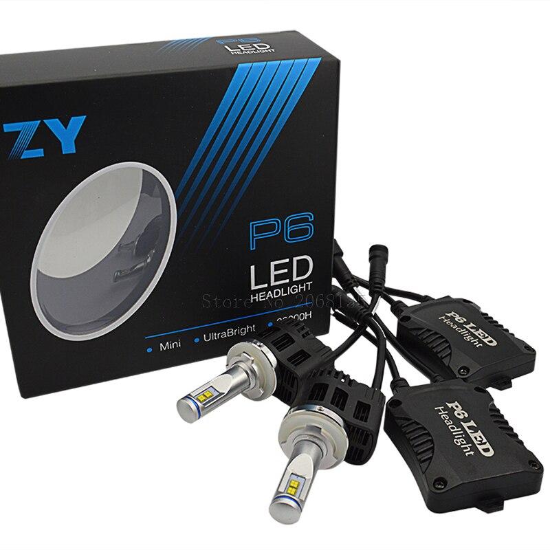 1 Set LED Phare De Voiture MZ Puces Canbus H15 LED Phare 110 W 10400LM 3000 K 4000 K 5000 K 6000 K Kit P6 Auto Brouillard Chef de Conduire ampoule