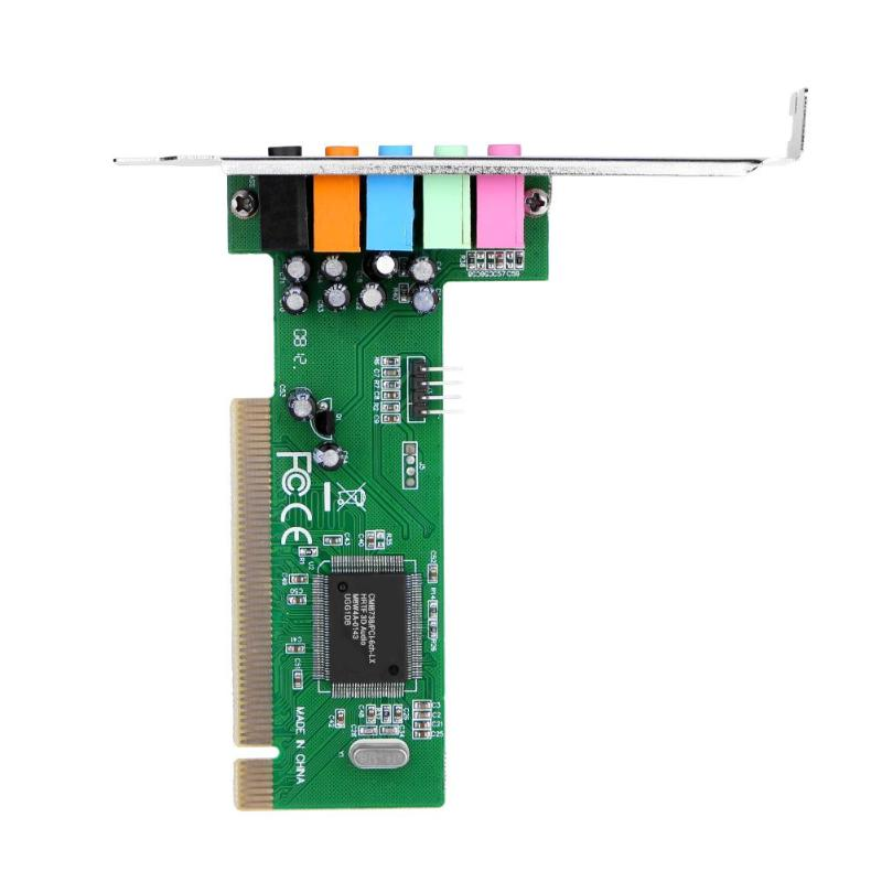 PCI 5 Channel 8738 Chip 3D Audio Stereo Digital Sound Card with CD Driver for PC Desktop Support Direct Sound 3D /A3D Interfaces