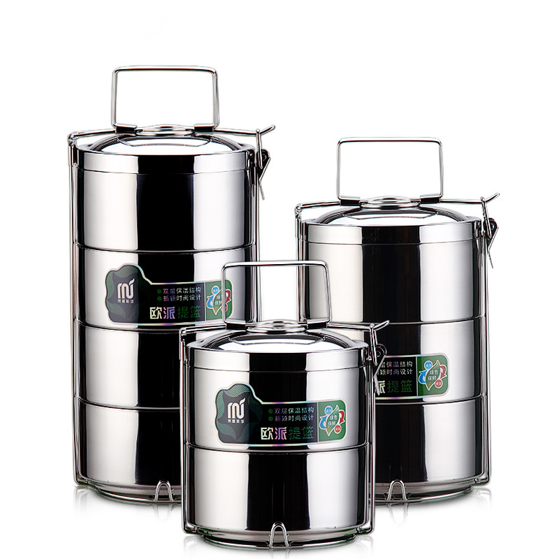 Stainless steel benbo boxes Japanese style lunch box 2 3 4 layers food containter creative tableware