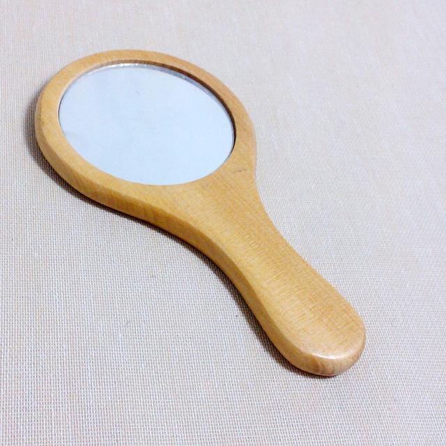 Bolsillo Espejo de Maquillaje Espejo Conveniencia Hermoso sobre Llevar Espejo de Mano De Madera Protección Del Medio Ambiente la Portabilidad 90% dis J9