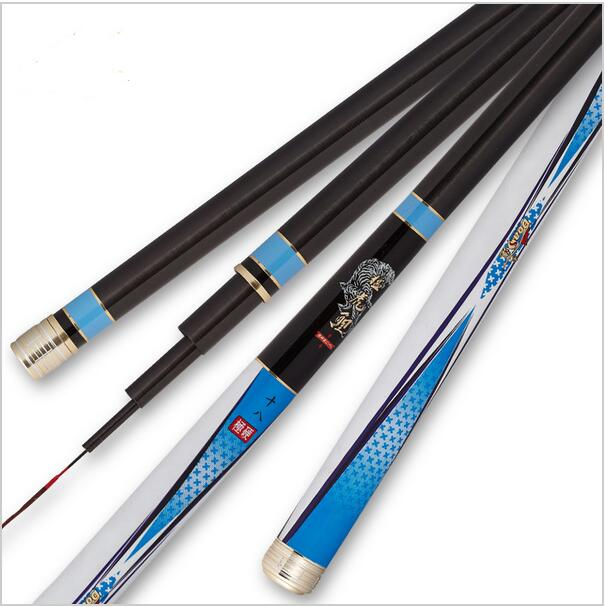 цена на 99.9% carbon Tigers carp pole ultra-light super-hard 19 Taiwan fishing rod Weihai fishing gear wholesale carbon power rod