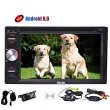 Android 2din 6.0 Stereo in Dash android GPS Navigation Car gps DVD Player Autoradio Support Wifi OBD SWC Wireless Reverse Camera