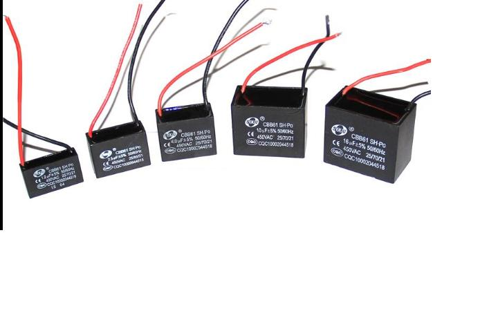 Купить с кэшбэком 10PCS CBB61 starting capacitance AC 450V 1uF -4uf, wire Terminal Ceiling Fan Motor Run Capacitor