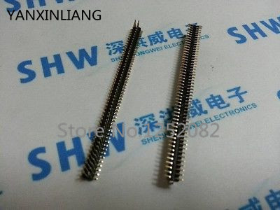 10 PCS 1.27mm Pitch 2x50 Pin 100 Pin Male Double Row SMT SMD Pin Header Strip 10pcs gold plated pitch 2 54mm 1x40 pin 40 pin double row smt smd male pin header strip connector